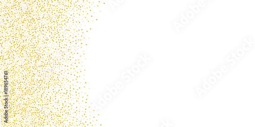 Obraz Golden glitter confetti on a white background. - fototapety do salonu