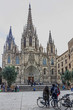 Barcelona Gothic Cathedral, Spain, Church La Seu, Catalonia, Gothic Quarter.
