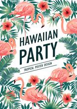 Hawaiian Party. Vector Illustr...