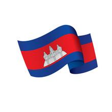 Cambodia Flag, Vector Illustra...