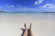 White aand beach in the Dominicana Republic