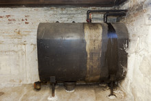 Old Heating Oil Tank In Dingy ...