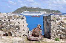 Canon On Fort Amsterdam In St. Maarten