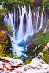 Fototapeta Wodospad Waterfalls, Plitvice National Park, Croatia