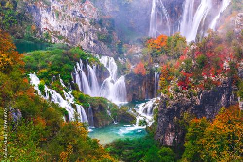 Wall Murals Waterfalls Waterfalls, Plitvice National Park, Croatia