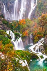 Obraz na Szkle Waterfalls, Plitvice National Park, Croatia