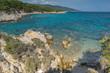Seascape of Orange Beach Kavourotripes at Sithonia peninsula, Chalkidiki, Central Macedonia, Greece