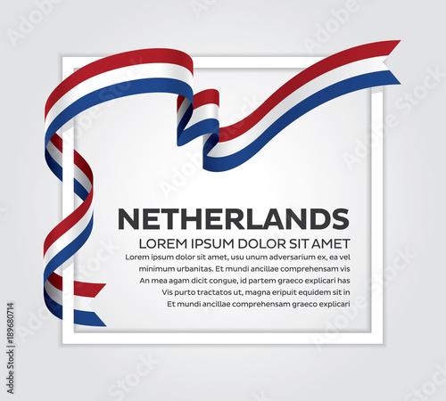 Photo  Netherlands flag background