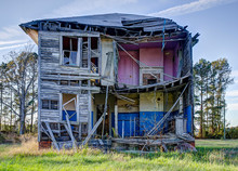 Farm House With Missing Back W...