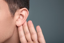 Man With Hearing Problem On Gr...