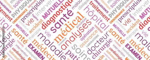 Foto  Nuage de Mots - Santé, Médical, Médecine, Mutuelle