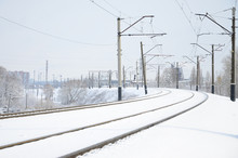 Winter Railway Landscape, Rail...