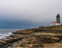 Stormy Beavertail Lighthouse, ...