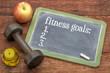 fitness goals list on blackboard