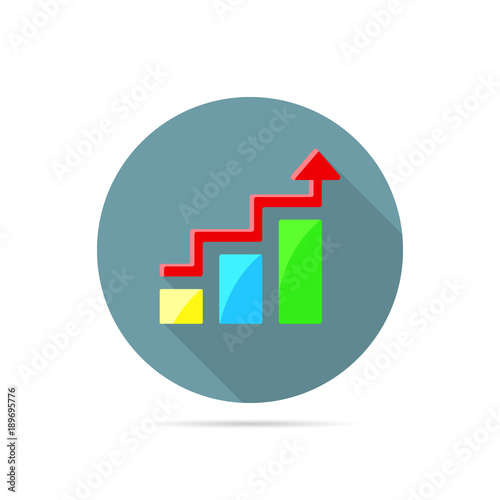 Colored Flat Icon Vector Design With Shadow Arrow With Rectangular