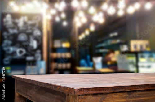 Fotografie, Obraz  Empty wooden table and room interior decoration background, product montage disp