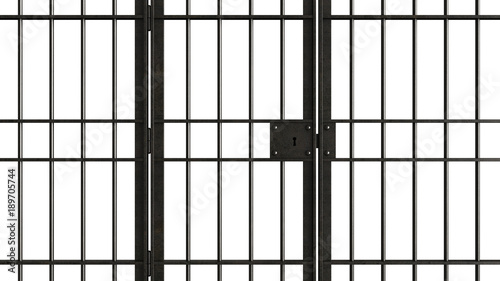 Metal jail bars Canvas Print