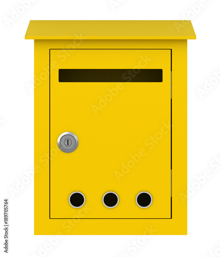 Yellow post box Wallpaper Mural