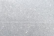 Abstract Silver Glitter Textur...