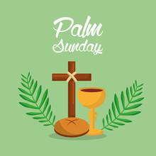 Palm Sunday Holi Week Cross Br...