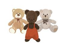 Three Plush Bears, Toys Friends