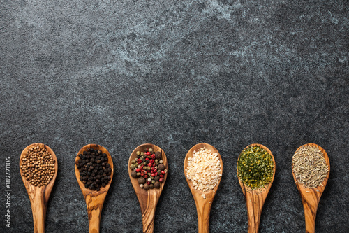 Canvas Prints Spices Cooking background with various spices