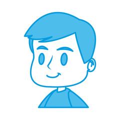 Obraz na płótnie Canvas Cute boy face cartoon icon vector illustration graphic design