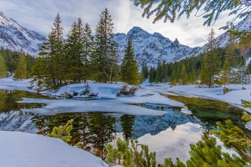 Fototapeta Inspiracje na zimę Dolina Rybiego Potoku