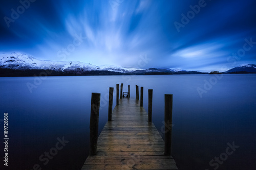 Fotografie, Obraz  Long exposure of Ashness Jetty on Derwentwater, The Lake District, Cumbria, Engl