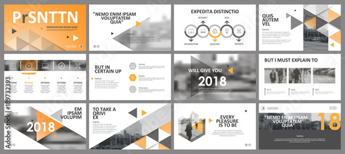 Cuadros en Lienzo Abstract white, blue presentation slides