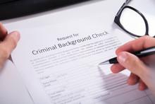 Person Hand Filling Criminal B...