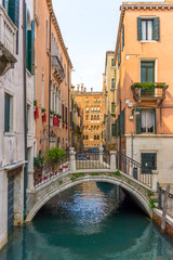 bridge over Venetian Canal, Venice Italy