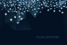 Shiny Diamonds Background