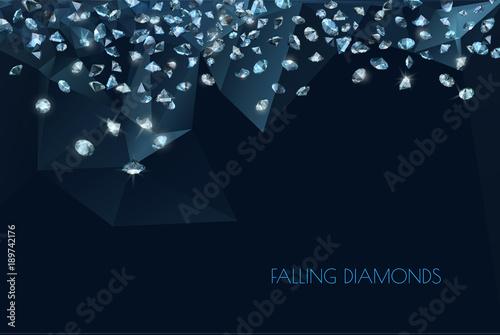 Fotografia  shiny diamonds background