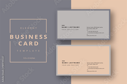 Trendy minimal abstract business card template Slika na platnu