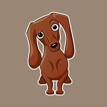 Weiner Dog Vector Illustration