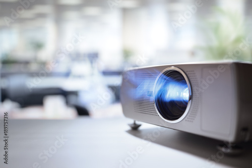Fotografie, Obraz  Presentation with lcd video projector in office