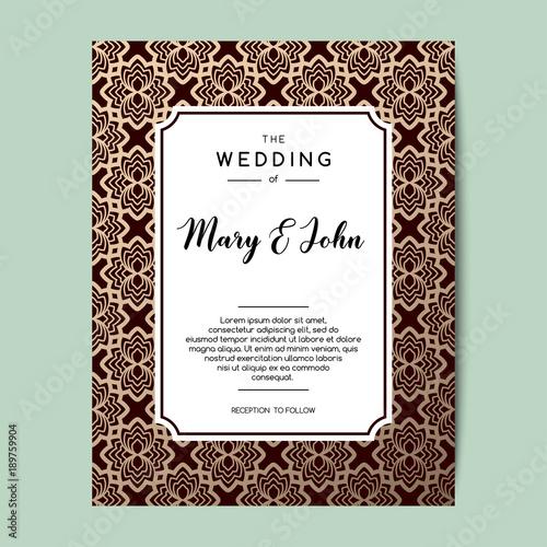 Elegant Wedding Invitation Background Card Design With