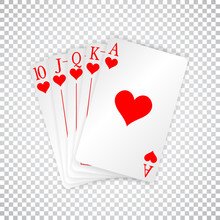 A Royal Straight Flush Playing...