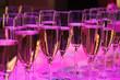 canvas print picture - Champagner Gläser