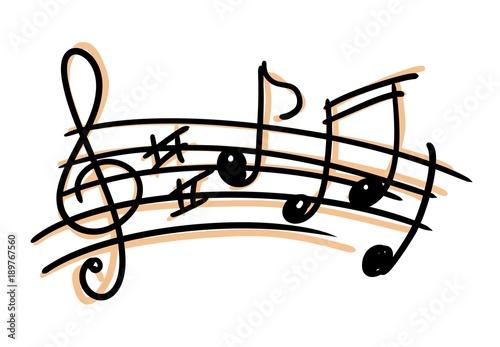 nuty-klucz-wiolinowy-rysunek-pieciolinia