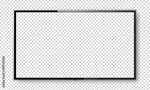 Realistic TV screen mock up Fototapet