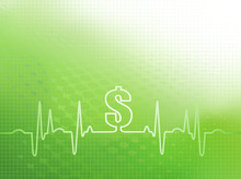 Abstract Green Graphic Of Ekg/...