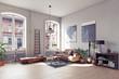 Leinwanddruck Bild - modern living room interior.
