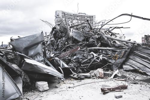 Cuadros en Lienzo Métaux Recyclage / Chantier démolition débris métalliques