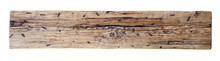 Old, Weathered Wooden Log With Nails Isolated With Clipping Path Included