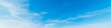 White And Blue Sky In The Spri...