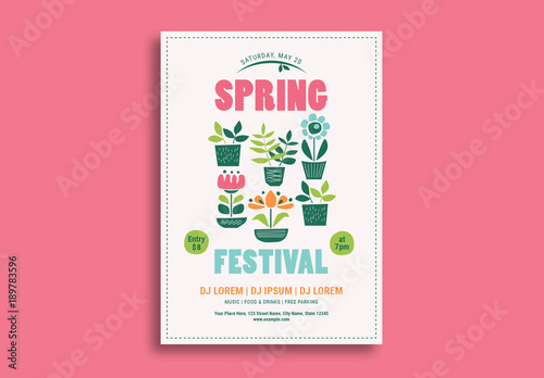Spring Festival Event Flyer. Buy this stock template and explore ...