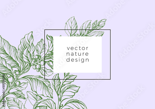 Tablou Canvas Vector template of organic nature