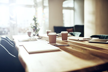 Boardroom Table In A Modern Office After Hours